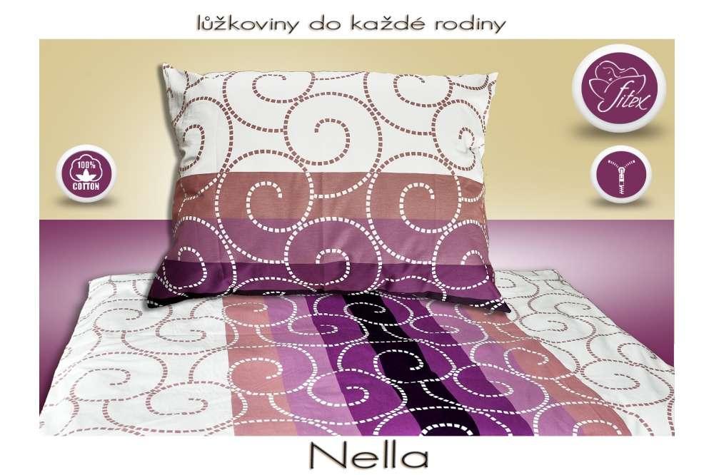 Kvalitní oboustranné bavlněné barevné povlečení se zipovým uzávěrem Nella Fitex