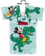 Povlečení do postýlky s motivem Mickey sedící na dinosauru | 1x 135/100, 1x 60/40