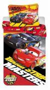 Bavlněné povlečení s motivem Cars na červeném podkladu   1x 140/200, 1x 90/70