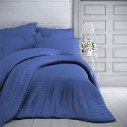 Saténové povlečení modré s proužky luxusní Kvalitex