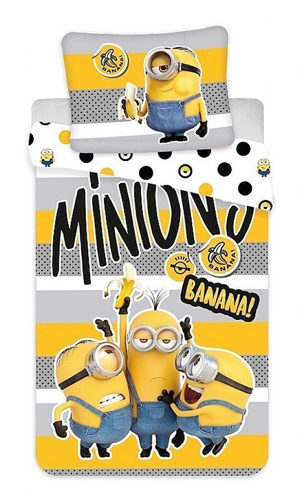 Bavlněné povlečení pro děti Mimoni 2 Banana Jerry Fabrics