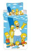 Bavlněné povlečení na modrém podkladu Simpsons Family | 1x 140/200, 1x 90/70