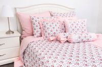 Flanelové povlečení ROSE / UNI pink