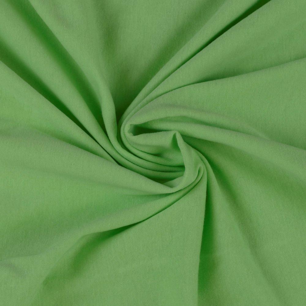 Napínací jersey prostěradlo světle zelené - různé rozměry Kvalitex