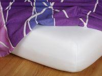 Jersey prostěradlo bílé 100x200x20 cm | Jersey prostěradlo bílé 100x200x20 cm