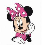 """Tvarovaný plněný polštářek Minnie """"Pink 02""""   Tvarovaný plněný polštářek Minnie """"Pink 02"""" 34x23 cm"""