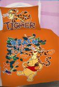 Oranžové povlečení s motivem Medvídka Pů a Tygra Jerry Fabrics