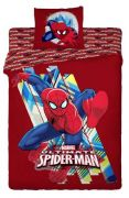 Kvalitní dětské povlečení Spidermann na červeném podkladu Jerry Fabrics