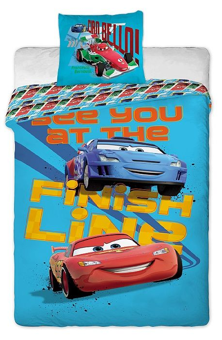 Dětské bavlněné povlečení Cars 2013 modré Jerry Fabrics