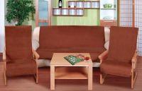 Přehoz na sedací soupravu hnědý