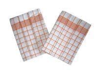 Utěrky Negativ bílá/oranžová - 3 ks