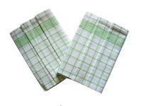Utěrky Negativ bílá/zelená - 3 ks
