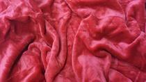 Mikroflanelové prostěradlo tmavě červené 90x200