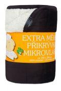Deka z mikrolvákna - Deka Ovečka černá/bílá