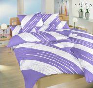 Bavlněné povlečení fialový, bílý Globus Dadka
