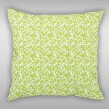 Bavlněné povlečení světle zelené s drobounkou kytičkou a puntíkem v bílé barvě Kvalitex