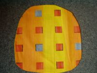 Povlak na sedák nebo kuchyňský sedák oranžový s kostičkami 40x40