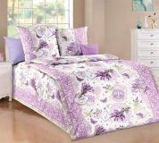 Krásné bavlněné romantické povlečení fialové barvy s motivem Levandule smolka