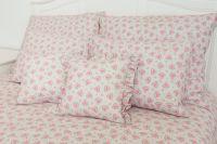 Velmi kvalitní krepové povlečení s květinovým vzorem v růžové barvě český výrobce