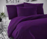 Saténové povlečení tmavě fialové