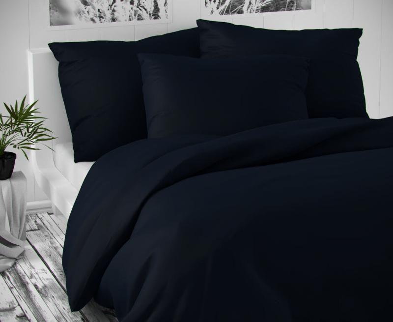 Saténové povlečení tmavě modré luxusní Kvalitex