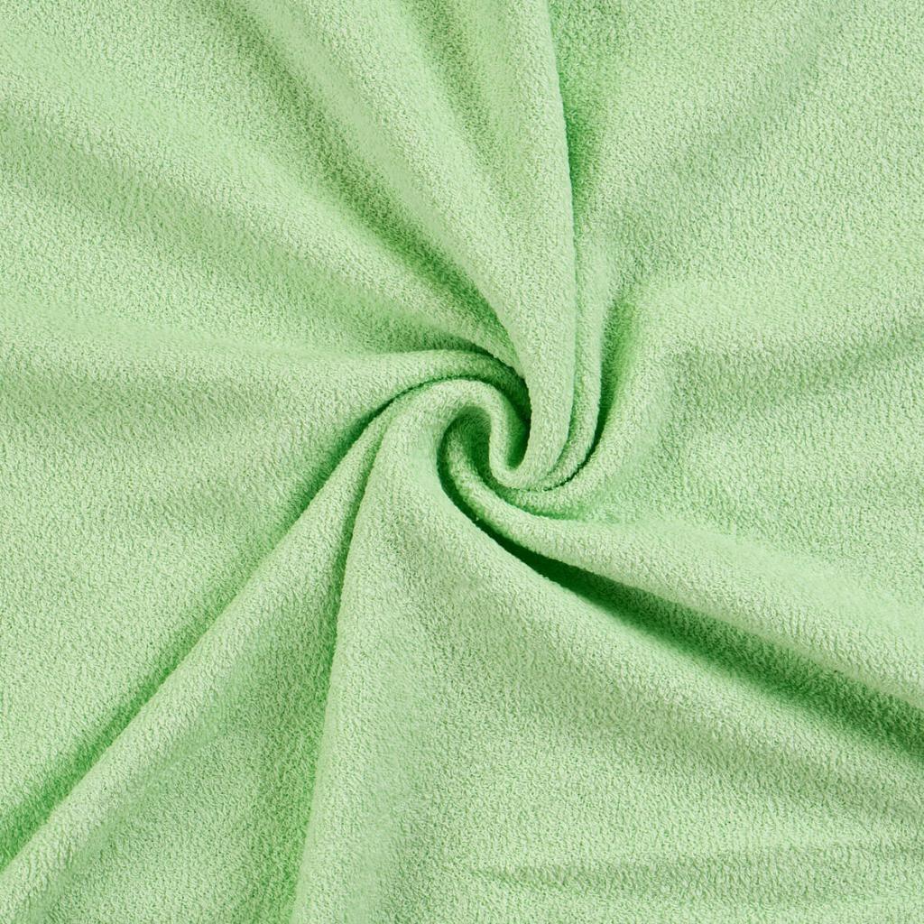 Světle zelené napínací froté prostěradlo Kvalitex