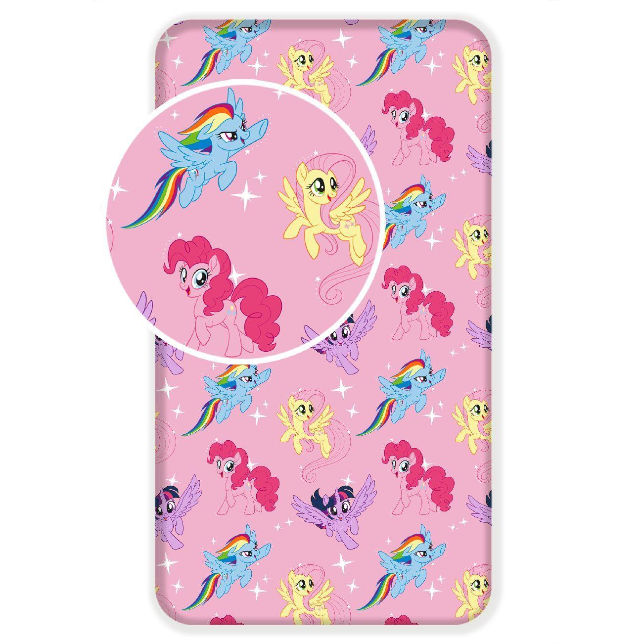 Dětské prostěradlo růžové My Little Pony Jerry Fabrics