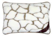 Vlněný polštář 40x60cm kameny - Kašmír