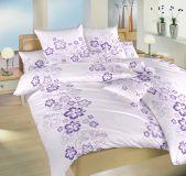 Bavlněné povlečení Ibišek fialový 140x200, 70x90 cm II.jakost