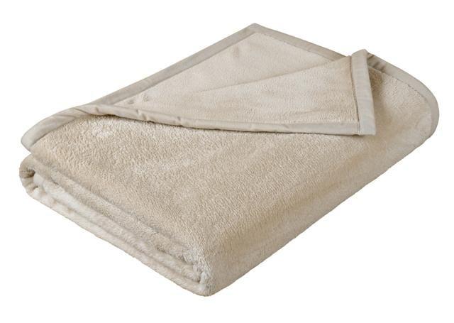 Pěkná micro deka jednobarevná - béžová