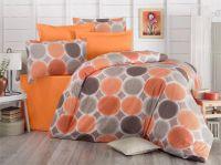 Pěkné bavlněné povlečení s kruhy Delux Targets v oranžové barvě Kvalitex