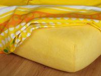 Froté prostěradlo tmavě žluté 60x140x3 cm