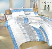 Krepové povlečení II.jakost Ateliér modrý 140x200, 70x90 cm