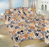 Krepové povlečení II.jakost Šampion oranžový 140x200 90x70 cm