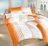 Povlečení bavlna Malorka oranžová 140x200, 70x90 II.jakost