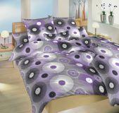 Povlečení bavlna Planetárium fialové 140x200, 70x90 cm II.jakost