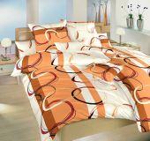 Povlečení bavlna Prsteny karamel 140x200, 70x90 cm II.jakost