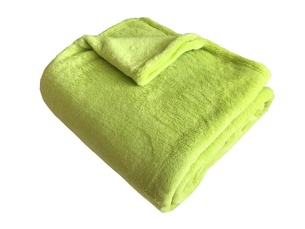 Hřejivá super soft deka pistáciové barvy Dadka