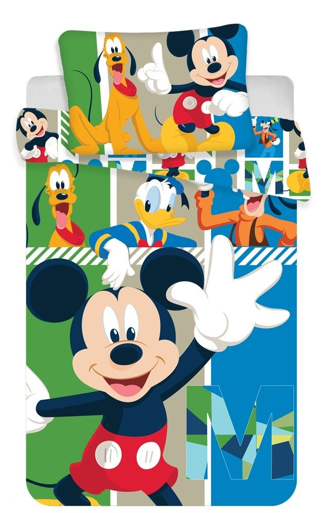 Bavlněné povlečení do postýlky Mickey Mouse Jerry Fabrics