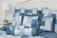 Krásné krepové povlečení se vzorem patchworku v kombinaci puntíků český výrobce