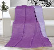 Deka jednobarevná 150x200cm fialová / světle fialová