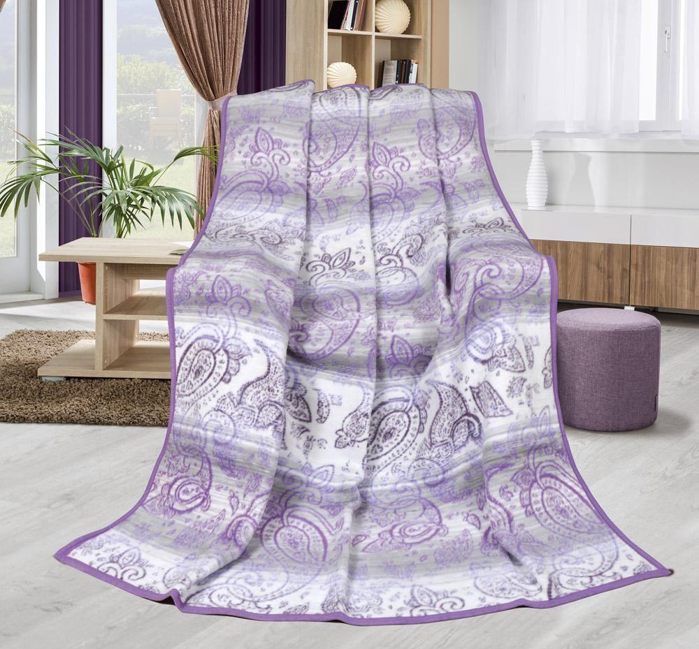 Pěkná hřejivá deka ve fialové barvě