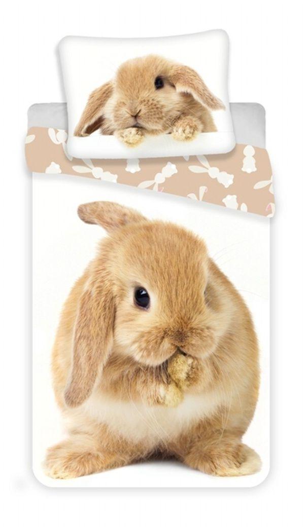 Pěkné bavlněné povlečení s rozkošným králíkem Jerry Fabrics