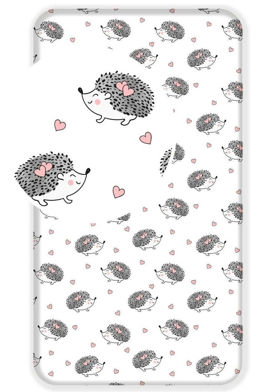 Pěkná bavlněná plachta pro děti s motivem ježků Jerry Fabrics