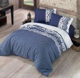 Luxusní bavlněné povlečení modro-bílé barvy Kvalitex