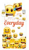 Pěkné bavlněné povlečení s motivem emotikonů Emoji 213 Jerry Fabrics