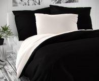 Saténové povlečení černobílé luxusní Kvalitex