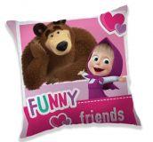 Pěkný polštářek pro děti Máša a medvěd Jerry Fabrics