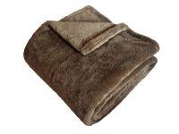 Hřejivá super soft deka stedně hnědé barvy | 150/200, 150/100