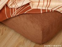 Napínací froté prostěradlo ve špičkovém zpracování a barvě nugátové Dadka